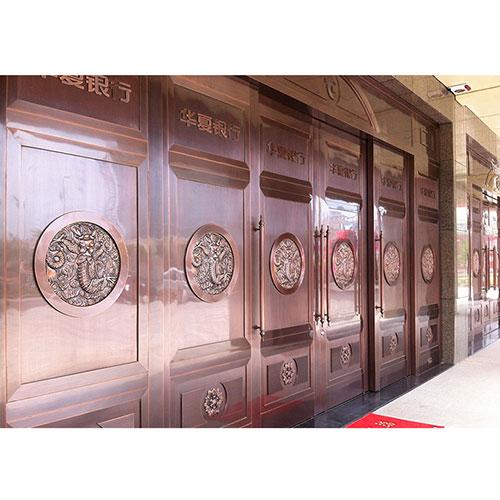 苏州君安工程平移铜门