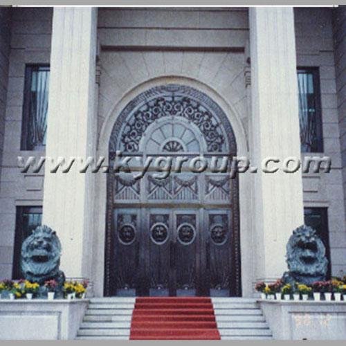 铜门图片 中国农业银行-浙江省分行铜门