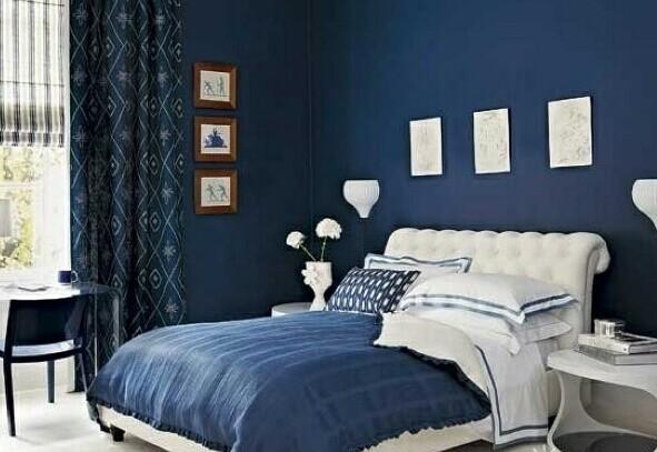蓝色配什么颜色好看? 蓝色家居搭配案例欣赏