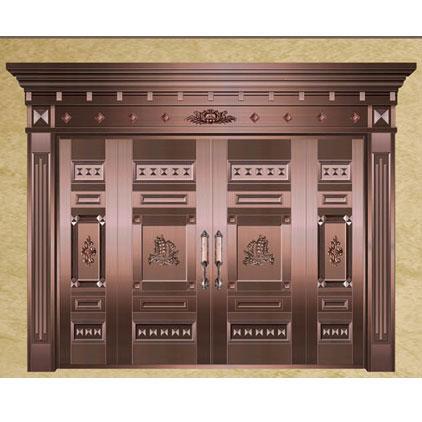 浙江帝皇世家生产的铜门图片