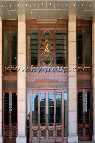 上海康宇銅門圖片 天津中鐵十八局銅門