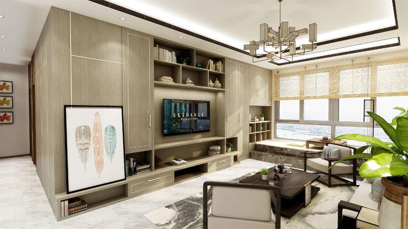 艺龙平仄设计风格-客厅