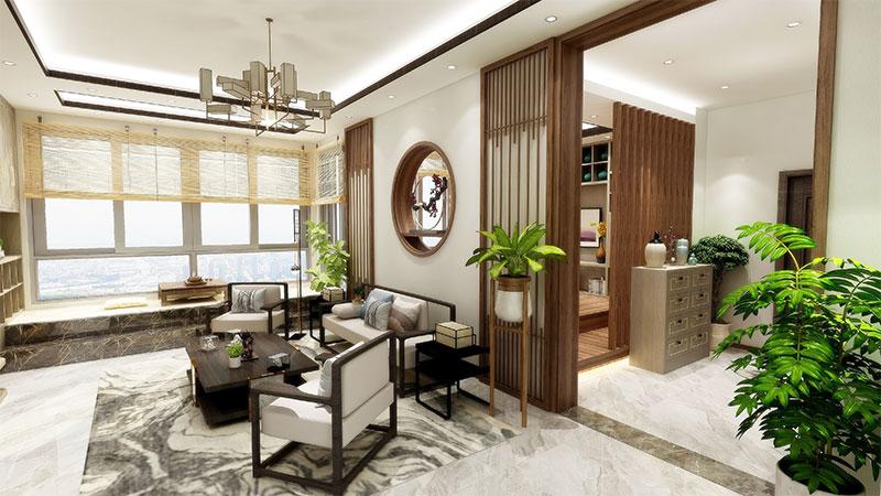 艺龙新中式平仄风客厅