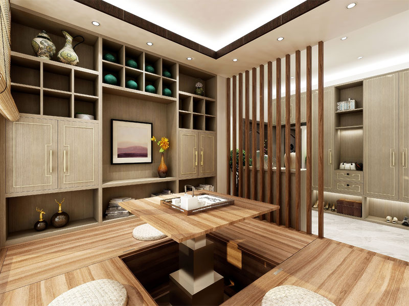 艺龙新中式平仄风茶室