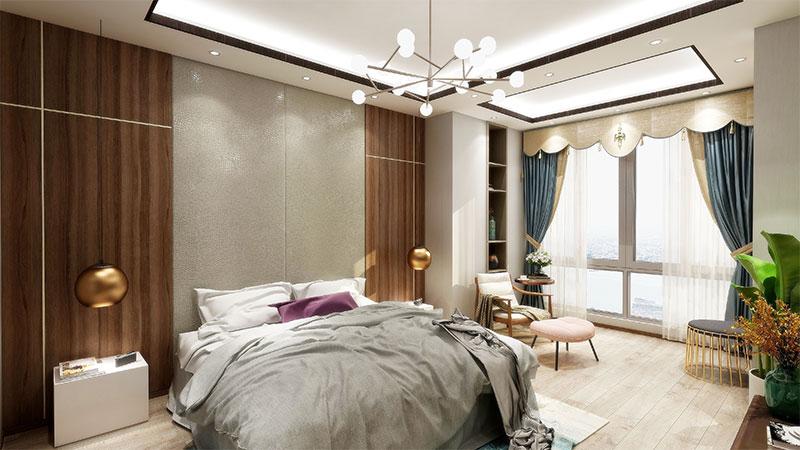 艺龙新中式平仄风卧室