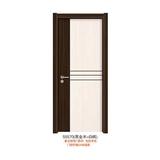 实木复合拼色门(55570(黑金木+白枫))